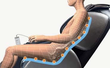 Удлиненная SL-образная каретка - Массажное кресло Bodo Ecto Black
