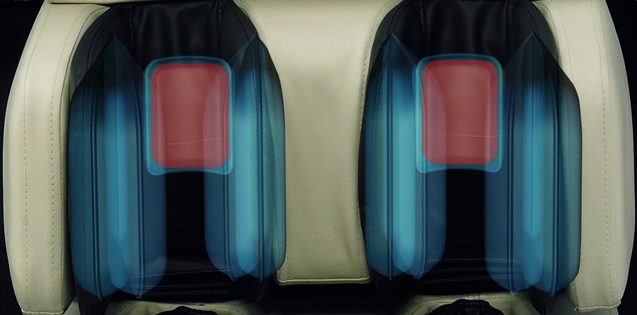 Роликовый массаж икр - Массажное кресло Richter Balance Beige Brown