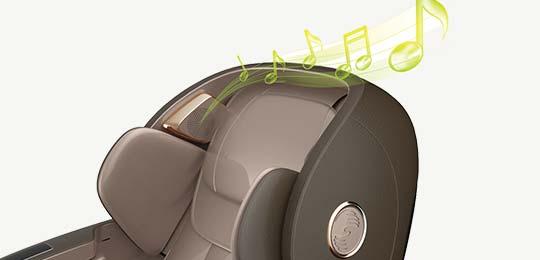 Синхронизация массажа с музыкой - Массажное кресло Bodo Kern biue ligh beige