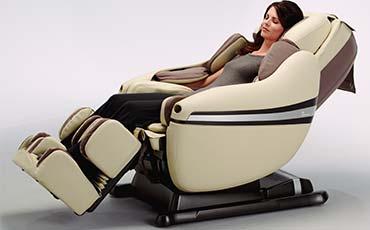 Воздушно-компрессионный массаж всего тела - Чёрное массажное кресло Inada Dreamwave