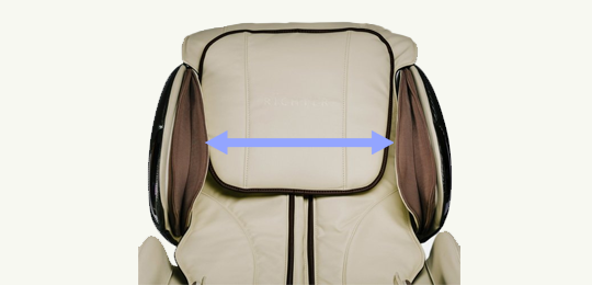 Настройка по ширине плеч - массажные кресла
