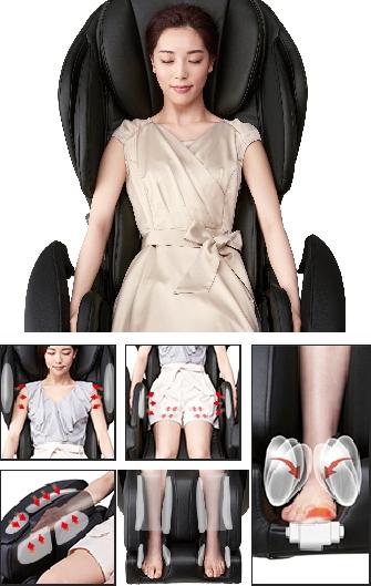 Блаженство от аэромассажа - массажное кресло Fujiiryoki JP-1100 Brown