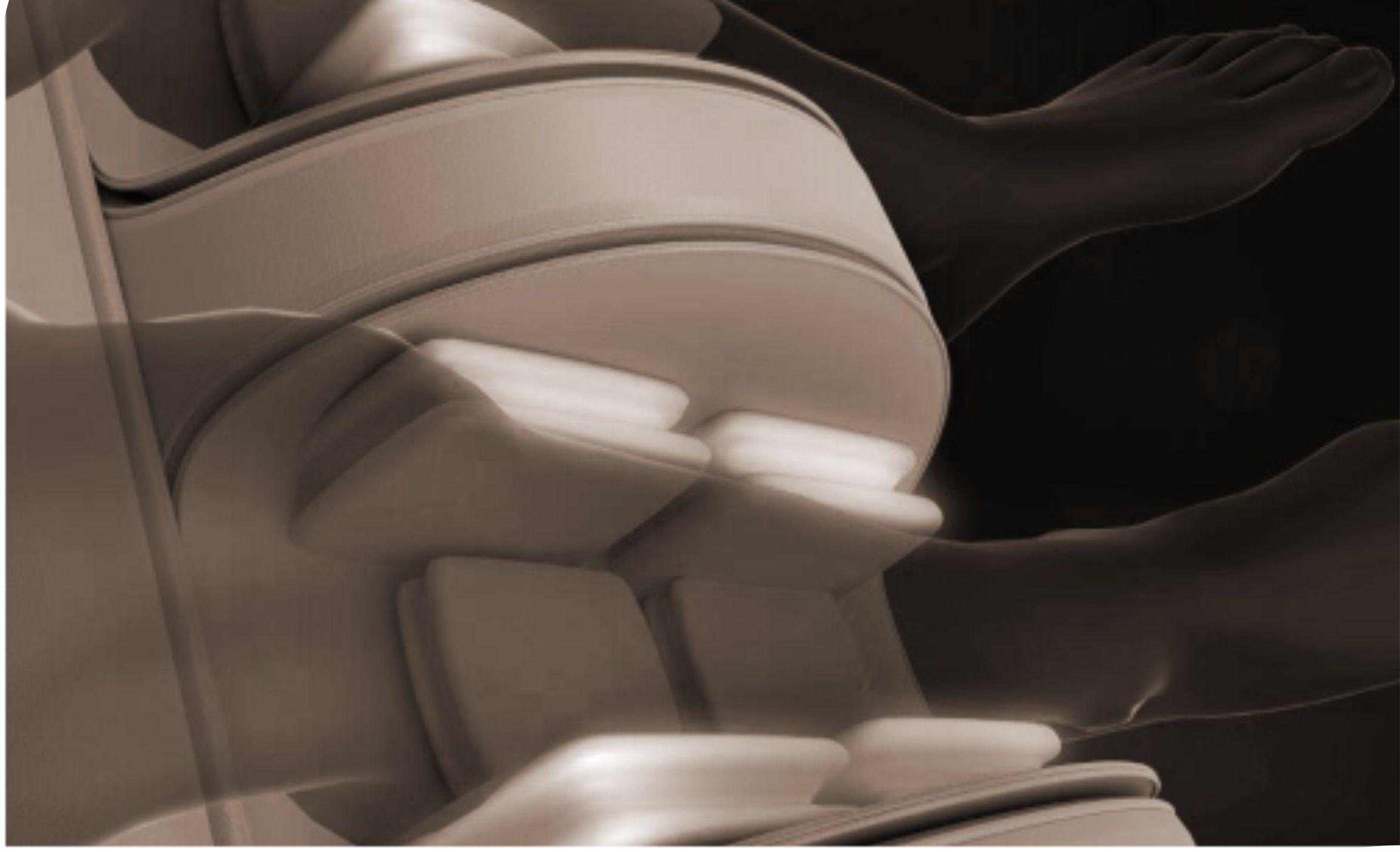 Растирающий массаж голеней - Массажное кресло Bodo Ecto Sport Beige