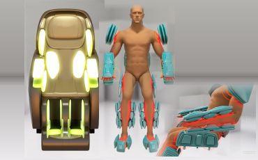 Аэромассаж всего тела - Массажное кресло Bodo Excellence Light Brown