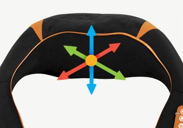 Объемный 3D массаж - Массажный пояс Sensa RT-2011