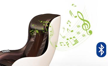 Беспроводное воспроизведение музыки - Массажное кресло Sensa Lounger Beige-Brown