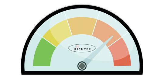Интенсивность воздушно-компрессионного массажа - Массажное кресло Richter Balance Beige Brown