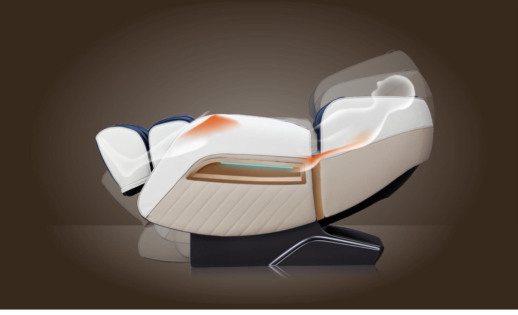 Инфракрасный прогрев - Массажное кресло Bodo Ecto Black