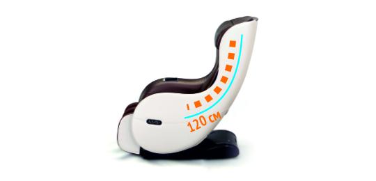 Профессиональная удлиненная каретка — 120 см - Массажное кресло Sensa Lounger Beige-Brown