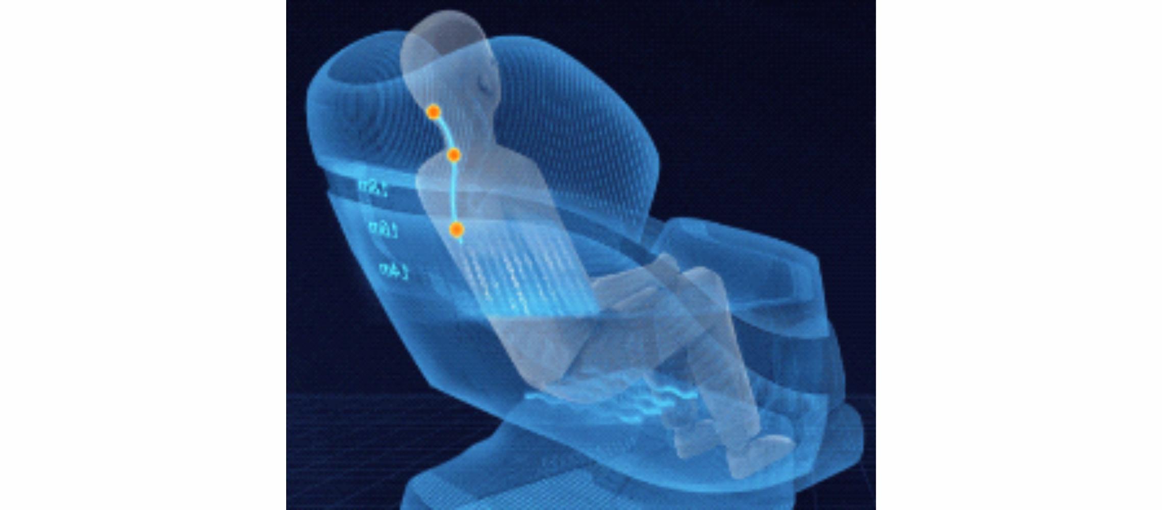 Самый реалистичный массаж шеи - Массажное кресло Bodo Norton Black