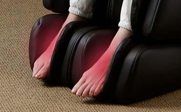 Инфракрасный прогрев стоп - Массажное кресло Inada 3S