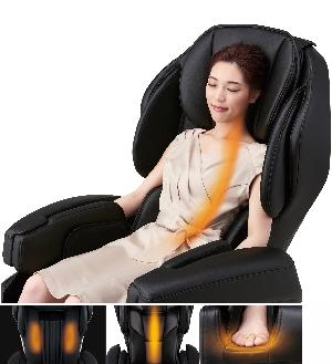 ИК-прогрев спины и стоп - массажное кресло Fujiiryoki JP-1100 Brown