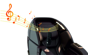 Стереосистема Bluetooth - Массажное кресло Bodo Palladium Bordeaux