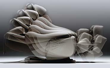 Функция автоматического наклона - Чёрное массажное кресло Inada Dreamwave